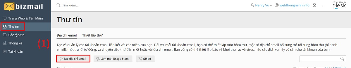 tao email moi 7
